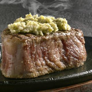 和牛ヒレ肉のステーキ
