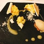 イル プロフーモ - クリムチーズとレモンのミモザ カモミールのジェラート