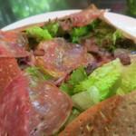 ザ・カフェ by アマン - 生サラミのガレット 茄子とアーティチョーク