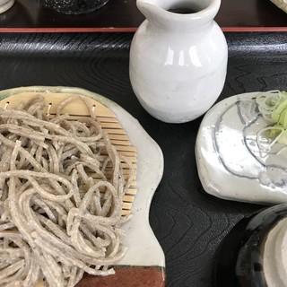 専心庵 - 料理写真:そばセット 1枚目 十割粗びき蕎麦