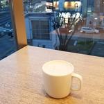 Cafe MUJI - 駅前ロータリーを見下ろすロケーション