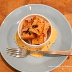 フォノカフェ - バナナとくるみのケーキ、バナナとアプリコットのケーキ