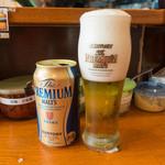 ラーメン 末廣家 - ビール