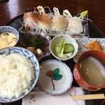 旬処 天馬 - お刺身定食1,280円