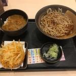 ゆで太郎 - 朝食セット(カレー丼)です