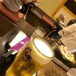 味乃家 - 生ビール中¥540外税