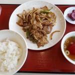中華料理 ミン宝 - 料理写真:肉炒め定食 2018.4