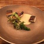 85110469 - 春の息吹 山菜のベニエと本日の鮮魚 蕗の薹のディジョネーズ