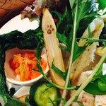 85112160 - もち豚のベトナム風ご飯プレート  ゴボウに肉球の焼印♡