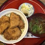85114415 - かつ丼(味噌汁、お新香付き)870円