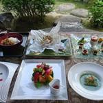 杉幸園 - 料理写真:5 月のおまかせコースです。デザートプレート付 3500円は、ご予約にて承っております。