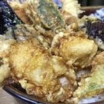 豊野丼 - ほたて貝柱天丼
