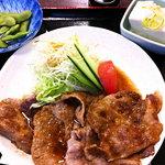 ドジャース前食堂 - 晩酌セット生姜焼き編