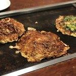 お好み焼 きじ - 料理写真:いか玉、もだん焼き、すじ焼き