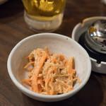 居酒屋 花門 - 2018.4 お通し(210円)ニンジンサラダのシーチキン和え