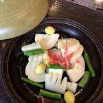 竹仙郷 - 筍の陶板焼き