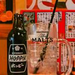 飲食笑商何屋ねこ膳 - 「ホピー 金宮セット」(2018.03)