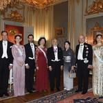 85131201 - 国王の晩餐会  これは市庁舎とは別で今の宮殿に招かれるそうだ