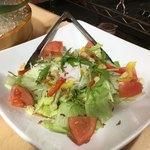 海鮮うまいもんや 浜海道  - 真ん中が温玉 これにパルメジャーノって美味しい要素しかないよね ただの野菜なのに演出だけでガラリとかわる