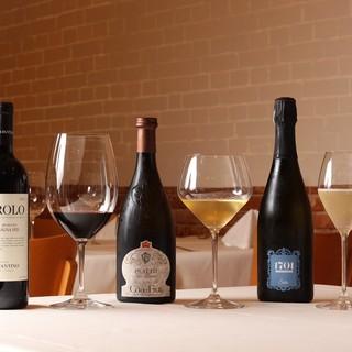 イタリア産のワインを、お料理に合わせて