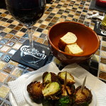 スペインバル ボスケ - 芽キャベツの素揚げ450円