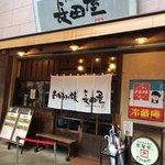 お好み焼 長田屋 - 先客が店内に入った瞬間です
