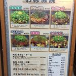 Okonomiyakinagataya - 店外の看板です