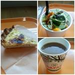 85135971 - キッシュ・サラダ・コーヒー