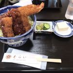 85141253 - えび ひれ丼 ¥1400 本来は味噌汁が付きます(笑)
