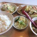 ラーメンとん太 - 野菜炒め定食(930円)★★★☆☆