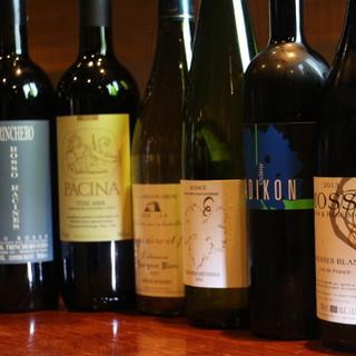 ワインも充実!身体にも嬉しい自然派ワイン◇
