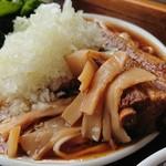 福のじ - 骨付きチャーシュー麺    ¥1000