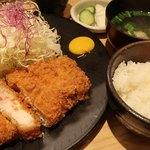 かつ竹 - 上ロースカツ定食1800円