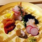 龍月  SUSHI - 黒鯛 赤貝 ツブとその肝