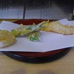 天ぷら割烹 和 - ランチのおすすめ定食の天ぷら#1/4