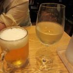 STEAK THE FIRST - 生ビール 626円 & ランチグラスワイン(白)421円