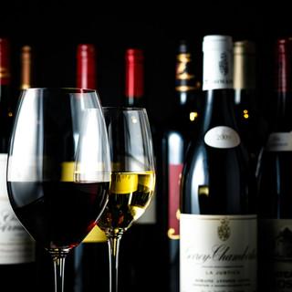 ワインも豊富にラインナップ