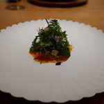 日本料理 鶴寿 - 北海道の桜鱒の軽い燻製