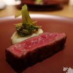 日本料理 鶴寿 - ジャージー牛の熟成肉サーロインアップ