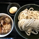 肉汁うどんの南哲 - 【2018.4.27】『肉汁うどん 並盛り400g』¥720+『たまから』¥100