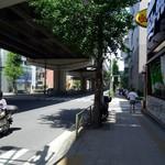 85158585 - 246沿い、脇は深沢高級住宅街の緑豊かな町並みへ。