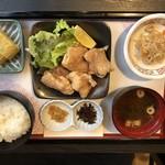 五十路 - ランチ950円(茶碗蒸し切れてて卵焼き)