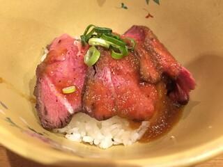 中華そば 先崎 - 牛ミスジ飯(400円)