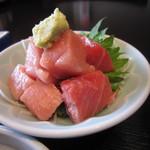 魚敬 - まぐろぶつ切り刺身