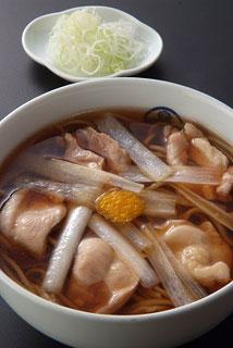 総本家更科堀井 - かしわ南蛮(鶏肉、南蛮葱)