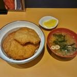 とんかつ太郎 - 4枚カツ丼+味噌汁 1,020円