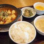 赤坂璃宮 - 麻婆豆腐セット