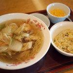 赤坂璃宮 - 料理写真:五目入りつゆそばセット