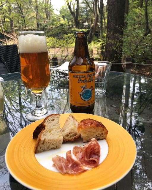 マジカメンテ ビバッコ - 志賀高原ビールの旨さに唸り、先付けに唸る。中軽井沢のパンの名店halutaのパン、信州オレイン豚の生ハム