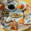 浅草じゅうろく - 料理写真:八寸:琵琶湖のもろこ南蛮漬け、黒大豆、わさび菜、いぶりがっこクリームチーズ、明太子炙り、たまご、わさび漬け、いたわさ、野菜のピクルス